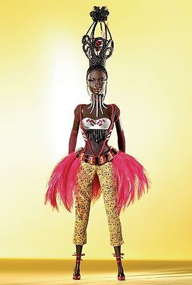 "Byron Lars Tano-""Treasures of  Africa Collection"" Desginer Barbie Doll-G8050"