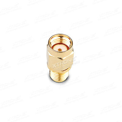 RP-SMA male Plug To SMA Female Jack connector adapter Straight Converter Antenna