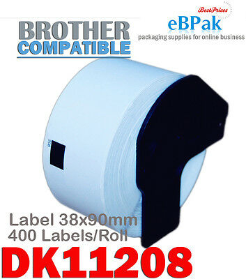24 x DK-11208 38 x 90mm 400pcs/Roll Compatible Thermal Label for Brother DK11208