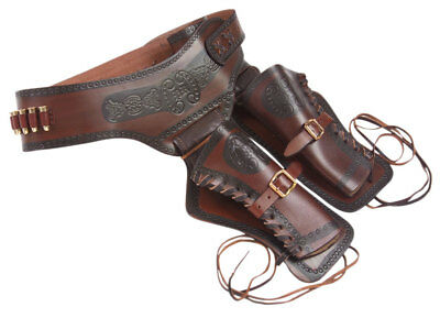 Denix Western Leather Double Sided Holster With Replica Bullets