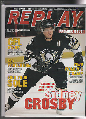 1x Vintage REPLAY Magazine Premier Issue Sidney Crosby Winter 2006 WWE James
