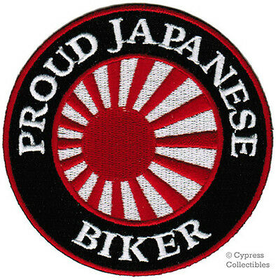 PROUD JAPANESE BIKER embroidered PATCH JAPAN FLAG new IRON-ON emblem RISING SUN