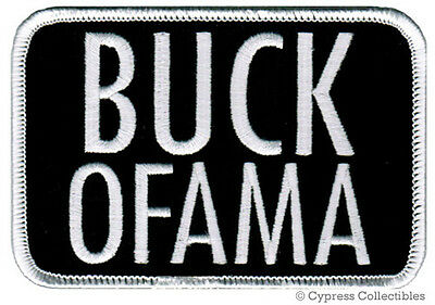BUCK OFAMA iron-on PATCH REPUBLICAN ANTI BARACK OBAMA embroidered TEA PARTY new