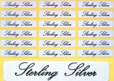 Self Adhesive Jewellery Labels Sterling Silver 30mm x 5mm