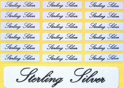 Self Adhesive Jewellery Labels ~ Sterling Silver ~ 30mm x 5mm