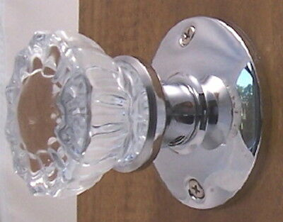LOT OF 3 Affordable Fluted Crystal Glass Passage Sets-to fit modern Doors-LOW SH
