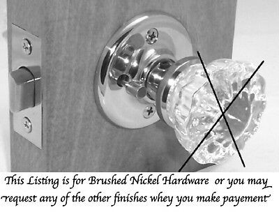PRIVACY RETROFIT HARDWARETo Fit your Antique Knobs-in Modern Door-SEE Swing Note