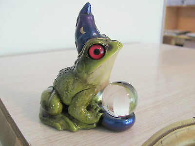 WINDSTONE EDITIONS Pena 1994 FROG WIZARD w Crystal Ball ~ FREE PRIORITY SHIPPING