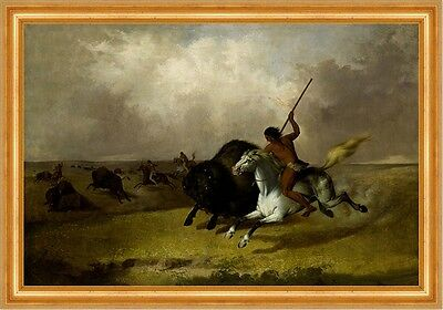 Buffalo Hunt on the Southwestern Prairies John Mix Stanley Indianer B A3 02665