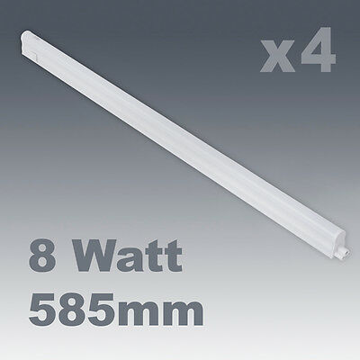 4 x 8W Cool White LED Linkable Under Kitchen Cupboard / Cabinet Strip Lights