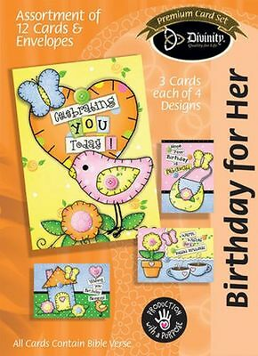 Birthday For Her Boxed Cards Patchwork, Box of 12