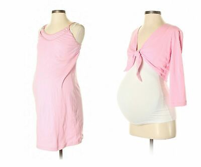 New 2 Pc Japanese Weekend Maternity Nursing Pink PJ Pajamas Robe Gown Lot S 6 8