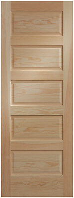 5 Panel Clear Pine Craftsman Raised Panel Stain Grade Solid Core Interior Doors