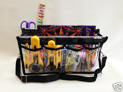 Handy Caddy Clear View Organzier Crafts Sewing Quilt Deluxe Supplies Carrier Blk