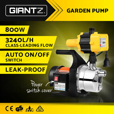 WEATHERPROOF 800W Garden Water Pump Auto High Pressure Tank Rain Pond Irrigation