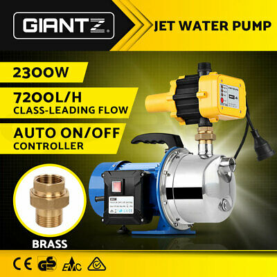 Giantz High Pressure Stage Jet Water Pump Automatic Controller - 3.15HP 7200L/Hr