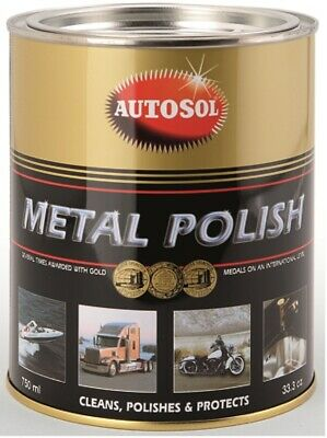 AUTOSOL Metal Polish Edel-Chromglanz 2x750ml Dose Chrom Metall Politur Reinigung