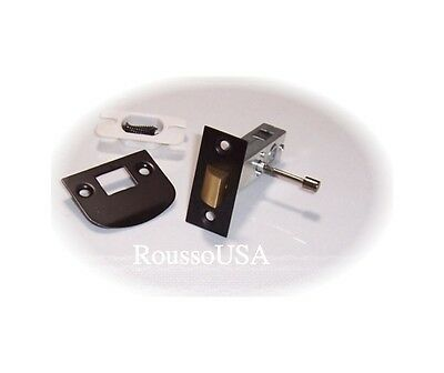 Oil Rubbed Bronze Privacy Latch Set to fit Antique Knobs into Modern Doors
