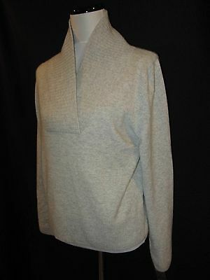 Daniel Bishop Extra Large XL New Sweater 100% Cashmere Gray V Neck Pullover