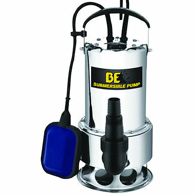 BE ST-900SD - 56 GPM Stainless Steel Submersible Trash Pump w/ Float Switch