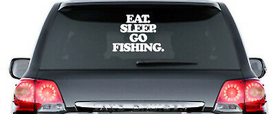 Eat Sleep Go Fishing - Aufkleber, Sticker - ca. 30 cm - Norwegen Schweden Island