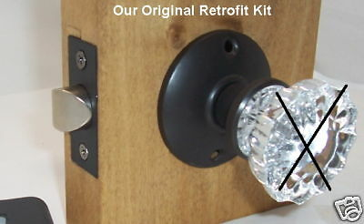 Retrofit Kit by Rousso's Reproductions INSTALL YOUR ANTIQUE KNOBS in MODERN DOOR
