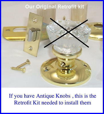 Original Retrofit Kit-INSTALL YOUR ANTIQUE KNOBS in MODERN DOORS w/Wood Adapters