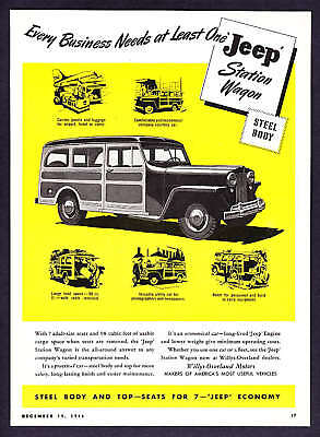 "1947 Jeep Station Wagon art ""Business Needs One"" Ad"