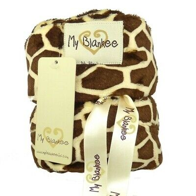 My Blankee Toddler Car Seat Cover Brown Giraffe
