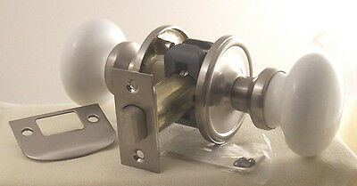 World Class PORCELAIN CERAMIC PASSAGE KNOB SET with everything needed to install