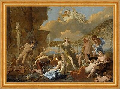 The Empire of Flora Nicolas Poussin Himmel Pferde Reiter Mythologie B A3 02921