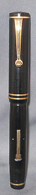 Eversharp Black Roller Clip Fountain Pen---working