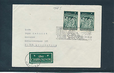 Christkindl-Stempel  22.12.1968  auf Brief LZ Ferlach