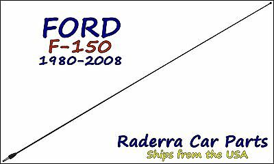"""1980-2008 Ford F-150 - 32"""" Black Stainless AM FM Antenna Mast"""