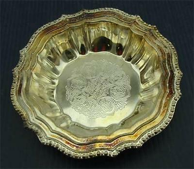 Vintage Avon ~ HUDSON MANOR~ Silver plated Small Serving Candy Dish Bowl Italy