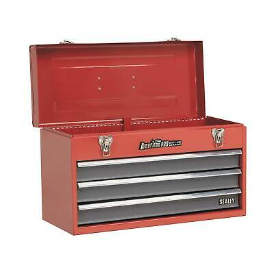 Sealey American Pro 3 Drawer Portable Topchest/Toolbox, Red - Garage/Tools/DIY