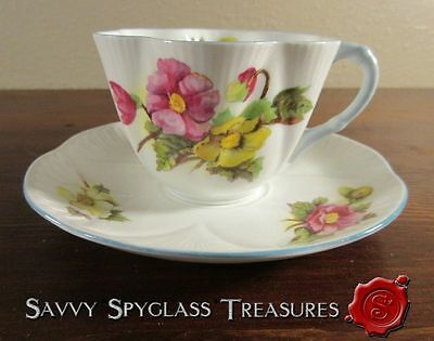 Shelley England Dainty Begonia #13427 Cup and Saucer Set