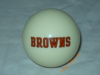 NEW NFL Cleveland BROWNS Football White Billiard Pool Cue Ball  ~ FREE Shipping