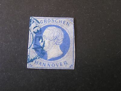 *GERMANY, HANOVER, SCOTT # 20 ,2g. VALUE ULTRA KGV 1859-61 ISSUE USED