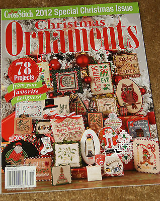 Just Cross Stitch  Christmas Ornaments 2012 Counted Cross Stitch Patterns NEW