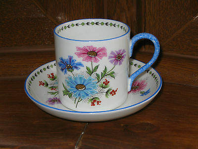 """STUNNING ART DECO """"AYNSLEY """" COFFEE CAN / CUP & SAUCER c1930"""