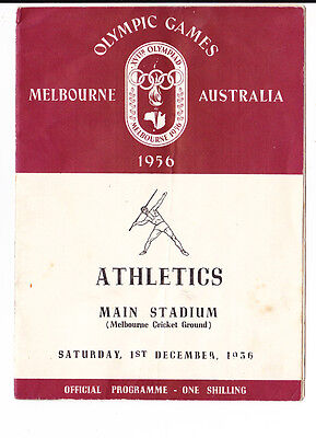 Lot Of 3 Melbourne 1956 Olympic Games Athletic Programmes