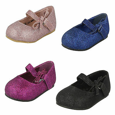 WHOLESALE Girls Flat Glittery Shoes / Sizes 4x10 / 16 Pairs / H2304