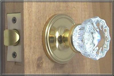 Value Lot of TWO(2) Finest fluted Depression Crystal Passage Door Knob Sets