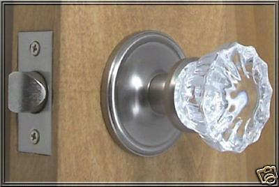 Lot of FIVE(5) Finest Fluted Depression Crystal Passage Door Knob Sets S