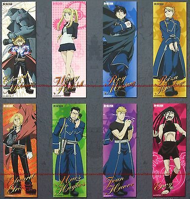 Fullmetal Alchemist clear plastic poster set of 8 official Edward Roy Winry Riza
