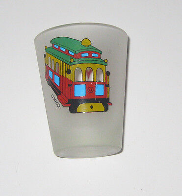 Vintage Shot Glass - San Francisco Trolley - Heart
