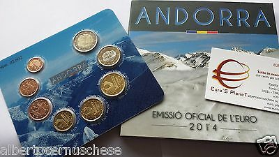 2014 ANDORRA 8 monete 3,88 EURO fdc BU KMS andorre divisionale ufficiale андорра