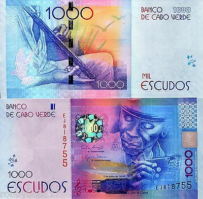 CAPE (CABO) VERDE 1000 Escudos Banknote World Paper Money UNC Currency Pick p-73