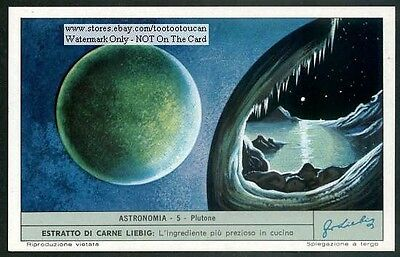 The Planet Pluto Plutone c40 Y/O Astronomy Card